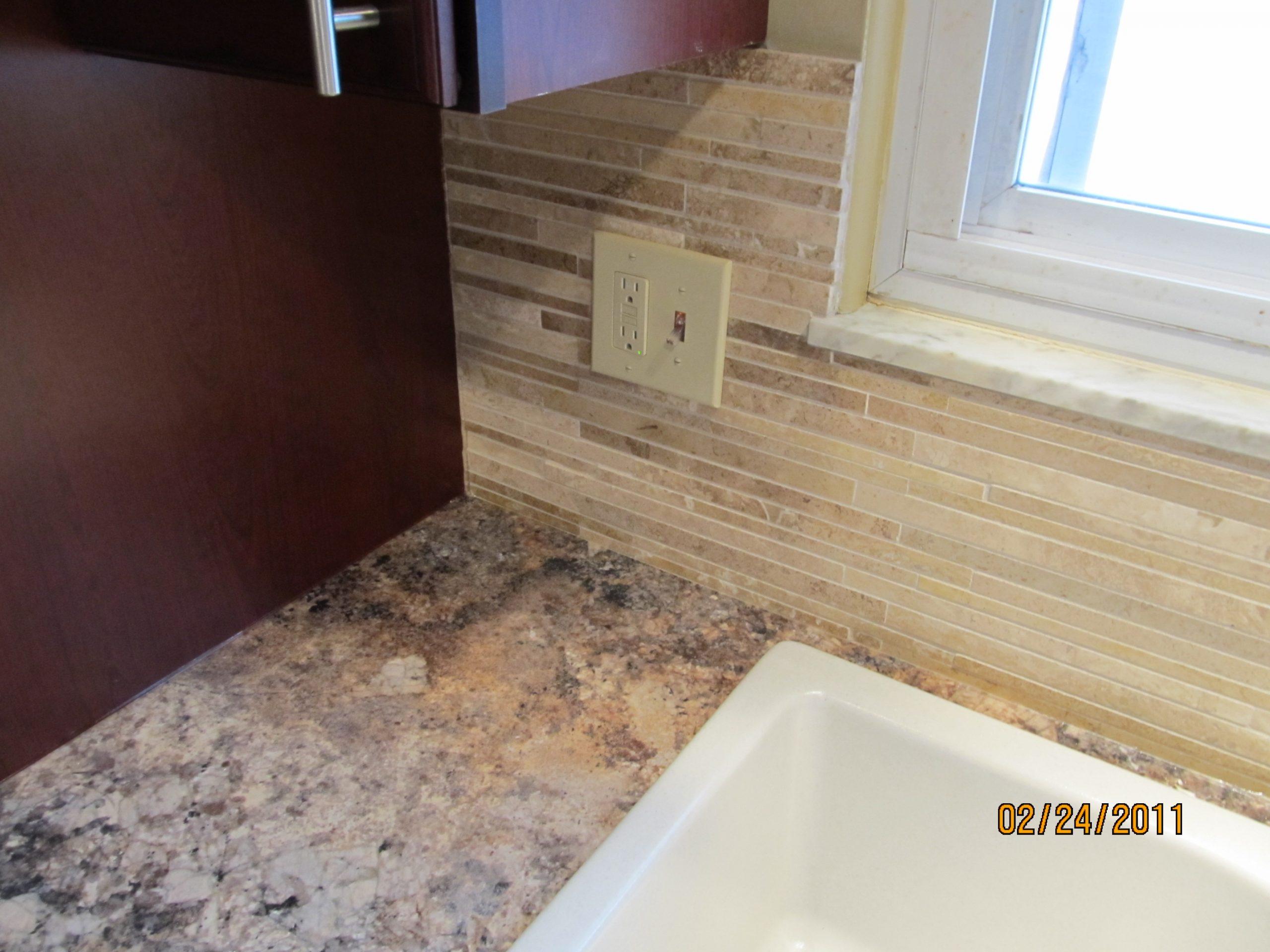 new sink backsplash